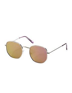 Metal-Trim Retro Sunglasses