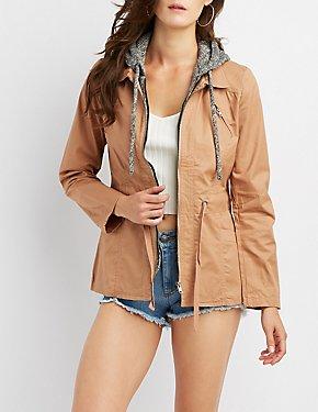 Hooded Lightweight Anorak Jacket