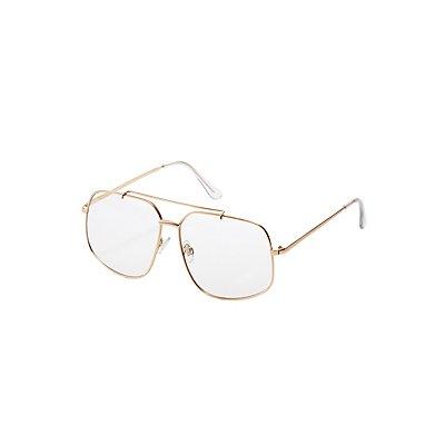 Metal Square Oversize Reader Glasses