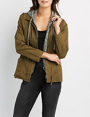 Hooded Lightweight Anorak Jacket