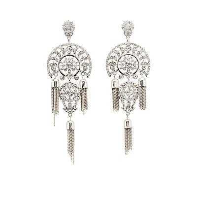 Tassel Chain Embellished Earrings