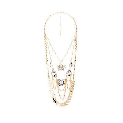 Embellished Multistrand Necklace