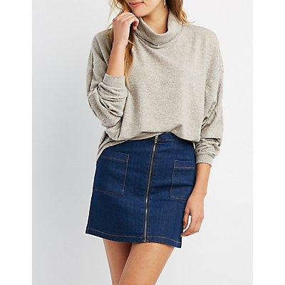 Hacci Cowl Neck Dolman Sweater