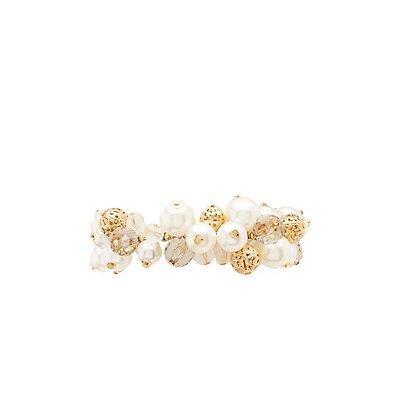 Embellished Beaded Stretch Bracelet