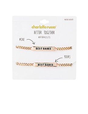 Best Babes Bracelet Set