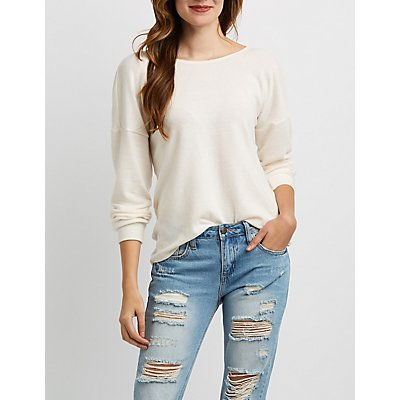 Hacci Knit Knotted Top