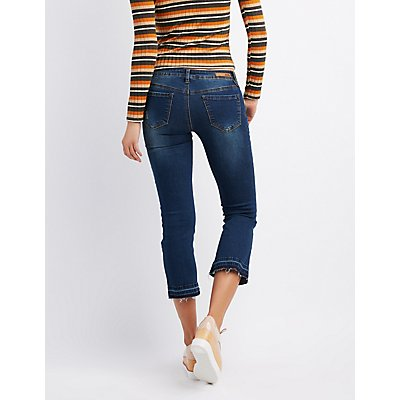 Dollhouse Destroyed Released Hem Flare Jeans