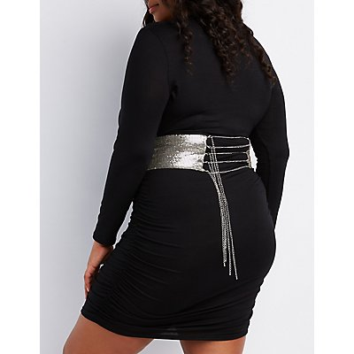 Plus Size Chainmail O-Ring Corset Belt