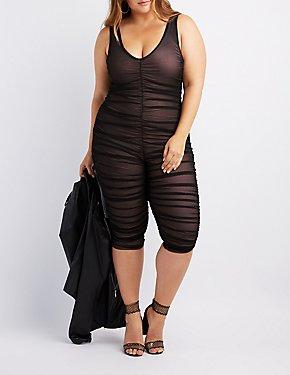 Plus Size Ruched Jumpsuit