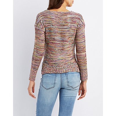 Multi-Colored Marled Sweater