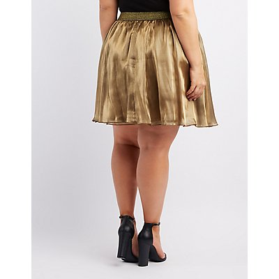 Metallic Skater Skirt