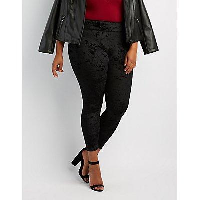 Plus Size Velvet Leggings