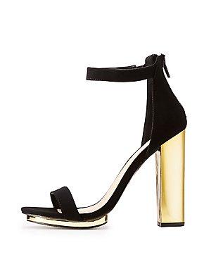 Ankle Strap Metal Heel Sandals