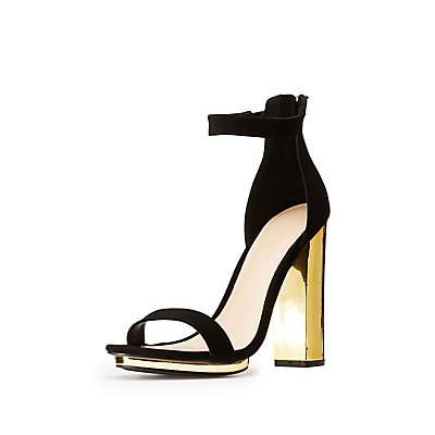 Ankle Strap Metal Heel Sandals