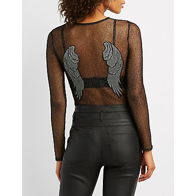 Wing Patch Mesh Bodysuit