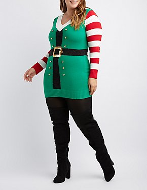 Plus Size Elf Knit Tunic