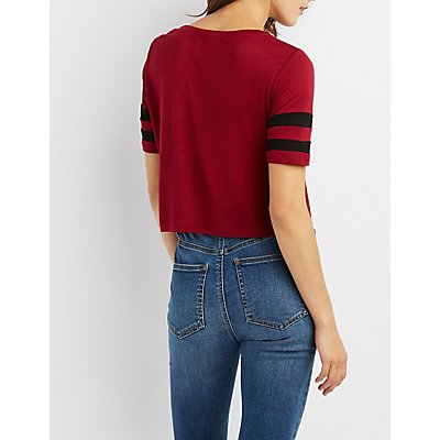 Varsity Stripe Crop Top
