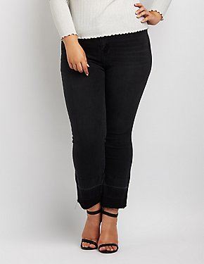 Plus Size Cello Released Hem Straight Leg Jeans