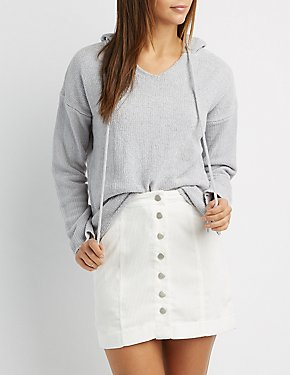 Chenille Drawstring Hoodie
