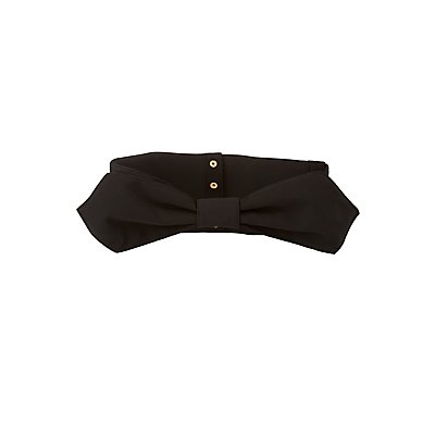 Plus Size Chiffon Bow Waist Belt