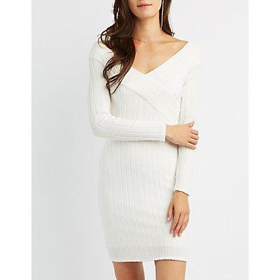 Hacci Off-The-Shoulder Bodycon Dress