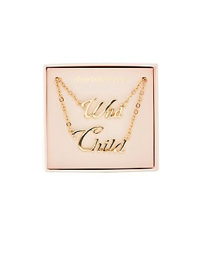 Wild Child Pendant Necklaces - 2 Pack