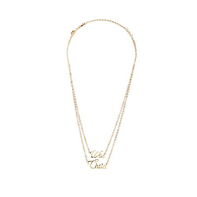 Wild Child Pendant Necklaces - 2 Pack