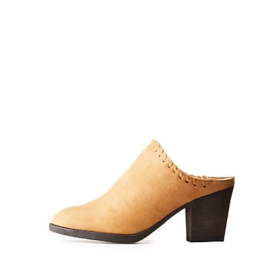 Bamboo Whipstitch Pointed Toe Mules