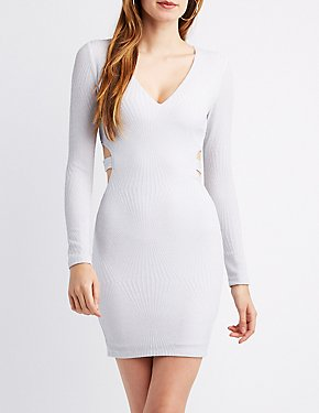 Shimmer Cut-Out Bodycon Dress