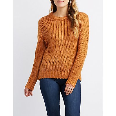 Slouchy Crew Neck Sweater