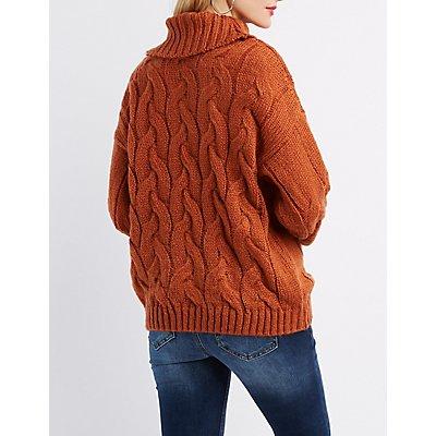 Oversize Cowl Neck Sweater