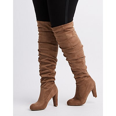Wide Width Ruched Over-The Knee Boots