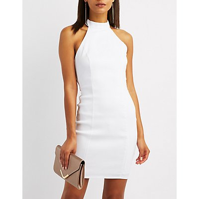 Caged O-Ring Bodycon Dress