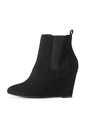 Wide Width Gored Wedge Booties