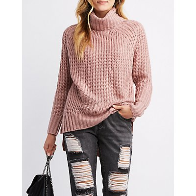 Turtle Neck Tunic Sweater