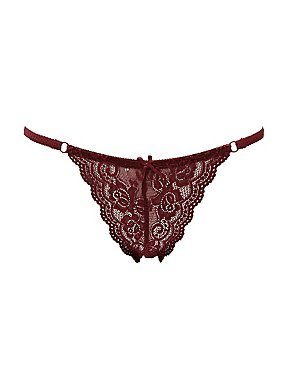 Lace String Bikini Cheeky Panties