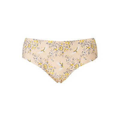 Plus Size Floral Laser Cut Hipster Panties