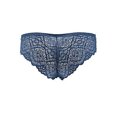 Scalloped Lace-Back Cheeky Panties
