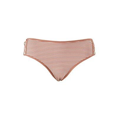 Plus Size Caged & Striped Boyshort Panties