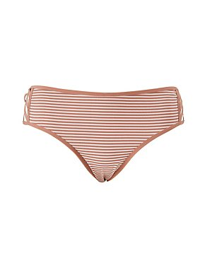 Plus Size Caged & Striped Boyshort Panties