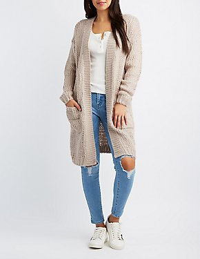 Open Knit Duster Cardigan