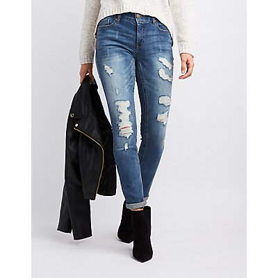 Refuge Destroyed Skinny Boyfriend Jeans