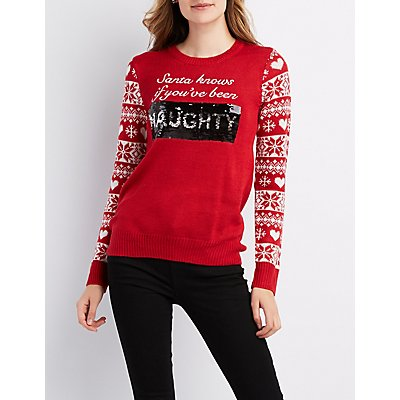 Santa Knows If You've been Nice Christmas Sweater