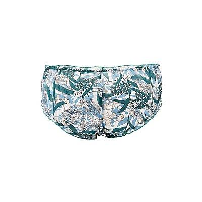 Printed Ruffle-Trim Boyshort Panties