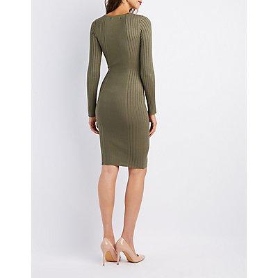 Ribbed Bodycon Midi Dress