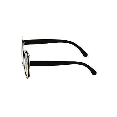 Metal-Trim Cat Eye Sunglasses