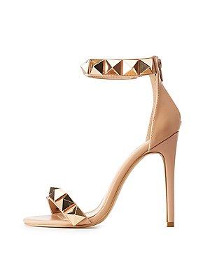 Embellished Ankle Strap Dress Sandals