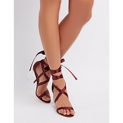 Satin Wrap Dress Sandals