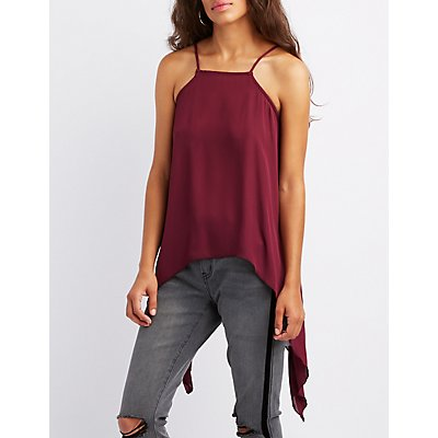 Bib-Neck High-Low Tank Top