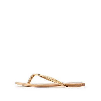 Braided Flip Flop Sandals